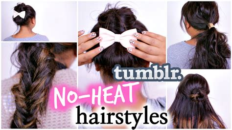 4 Easy No Heat Hairstyles Inspired By Tumblr! Diy Tumblr