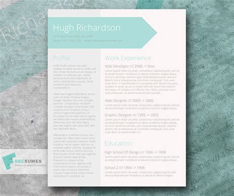 turquoise template free turquoise resume cv template greenish blue freesumes