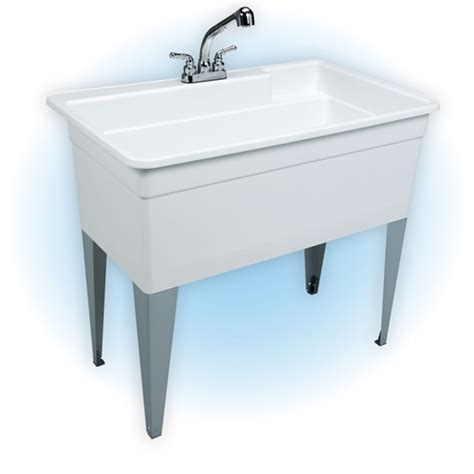 mustee utility sink with legs and faucet mustee 28cf bigtub utilatub combo tub faucet supply lines