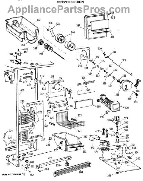 Ge Side By Side Wiring Diagram by Ge Wr51x442 Defrost Heater Appliancepartspros