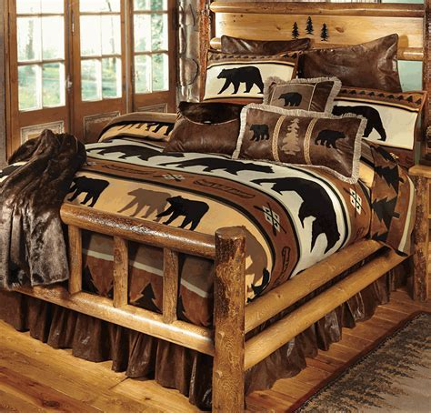 Black Bear River Plush Bedding Collection