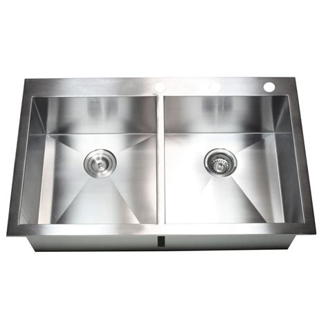 36 Inch Topmount  Dropin Stainless Steel Double Bowl