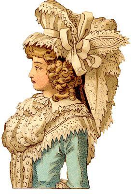 vintage images french costume ladies  century