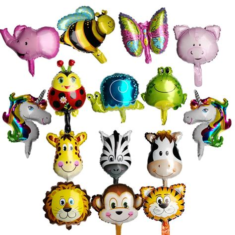 mtrong te pcs mini animal helium foil balloons monkey