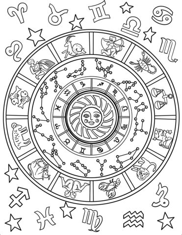 astrological signs coloring page  printable