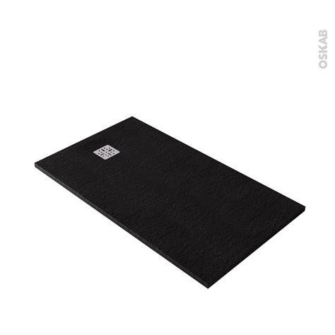 receveur de plat bali r 233 sine rectangulaire 140x80 cm noir oskab