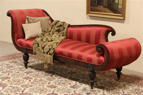 chaise empire sold empire or late biedermeier 1840 antique recamier