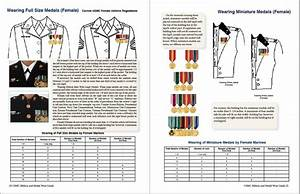 Army Medals Chart United States Marine Corps Military Ribbon Medal Wear