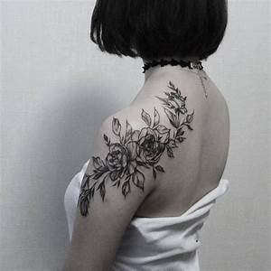 Rose Tattoo Shoulder Blade | danielhuscroft.com