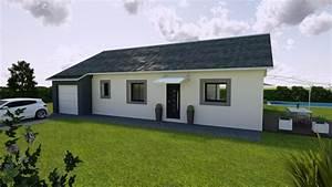 constructeur maison neuve plein pied construction With facade maison plain pied3