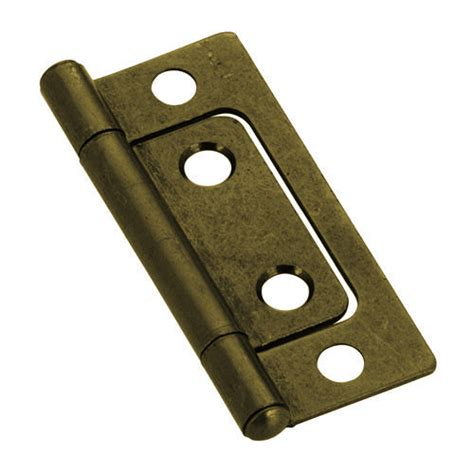 2 Non Mortise Cabinet Hinges by Non Mortise Hinge Antique Brass 2 Quot