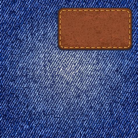 jeans texture  leather label vector illustration