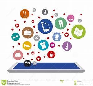 Design Online Shop : shopping online stock vector illustration of modern ~ Watch28wear.com Haus und Dekorationen