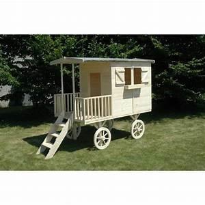 Cabane En Bois Pour Enfant : cabane pour enfant roulotte en bois aventura l2 achat ~ Dailycaller-alerts.com Idées de Décoration