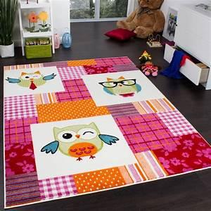 Teppich Für Kinderzimmer : teppich kinderzimmer trendige eulen kinderteppich eule mehrfarbig pink creme kinderteppiche ~ Eleganceandgraceweddings.com Haus und Dekorationen