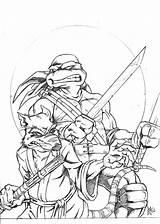 Coloring Pages Printable Ninja Turtles Mutant Teenage Splinter Tmnt Colouring Leonardo Turtle Sheets Drawing Drawings Leo Battle Makinbacon Adult Cool sketch template