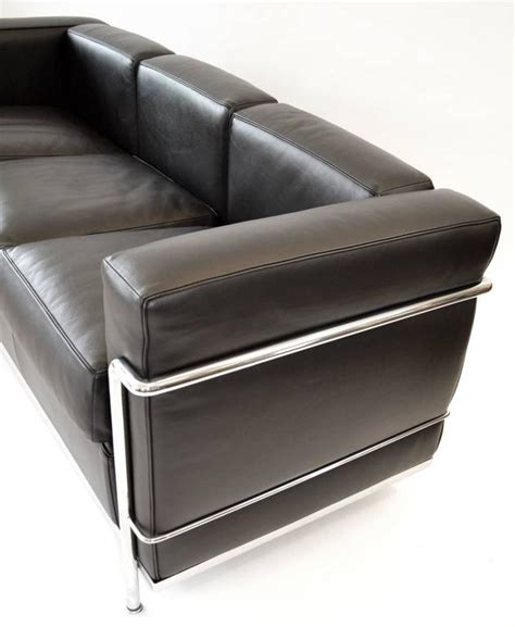 lc2 two seat sofa by le corbusier et al cassina leather lc2 three seat leather sofa by le corbusier for cassina at