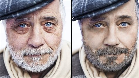 How To Make Old People Young With Photoshop Youtube