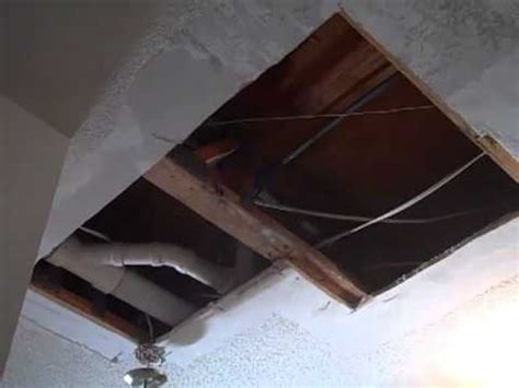 hole in popcorn ceiling repair youtube