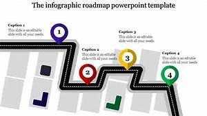A Four Noded Roadmap Powerpoint Template