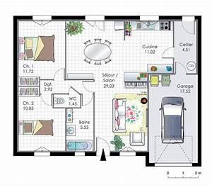 Maison pour primo accedants 2 detail du plan de maison for Good plan de maison de 100m2 3 maison pour primo accedants 2 detail du plan de maison