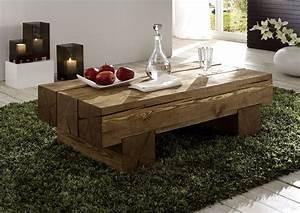 Massivholz Couchtisch Beistelltisch Sofatisch Vollholz