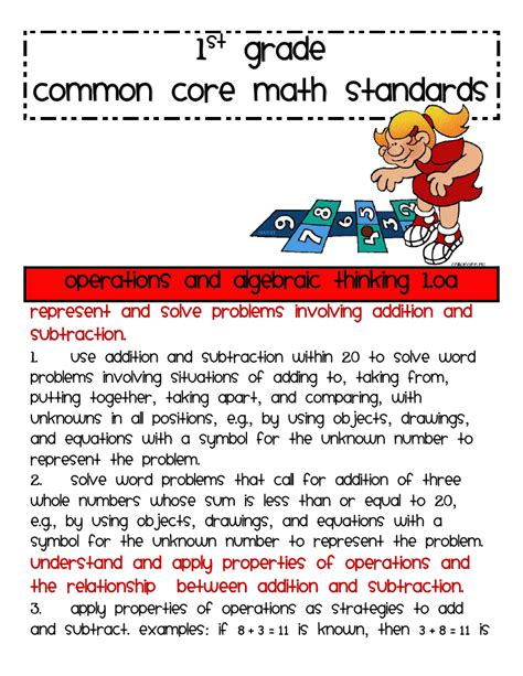 Lory's 2nd Grade Skills 1st Grade Math Common Core