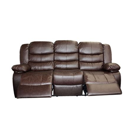 3 seater sofa with 2 recliner actions 3 seater recliner couch lounge brown bonded leather buy