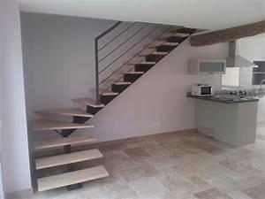 Escalier Quart Tournant Haut Droit : escaliers contemporains ~ Dailycaller-alerts.com Idées de Décoration