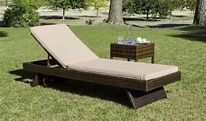 Bain De Soleil En Resine : bain de soleil r sine minerva nautic avec coussins beige meubles de jardin ~ Teatrodelosmanantiales.com Idées de Décoration