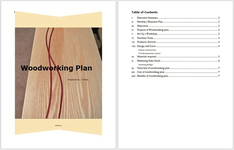 woodworking plan template word templates