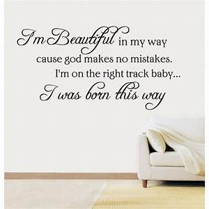 Born This Way Lady Gaga Quote Vinyl Sticker Wall Art ...