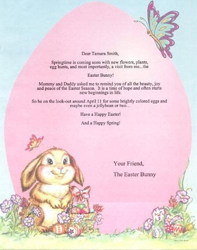 Letter To Easter Bunny Template by My Create A Book Personalized Children S Books