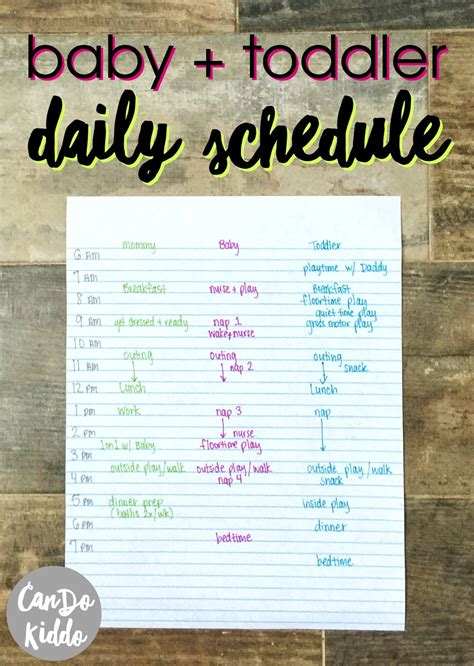 baby schedule my stay at home infant and toddler schedule cando kiddo
