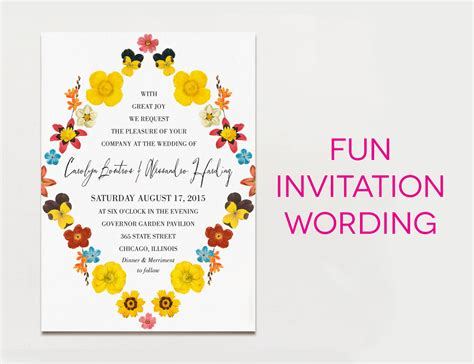 wedding invitation wording samples  traditional  fun