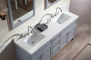 Double vanity tops avalon quot single sink bathroom for Best place to buy bathroom vanities