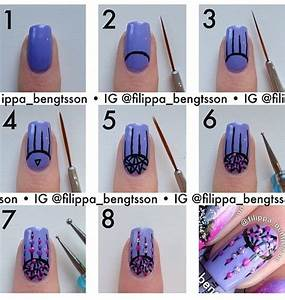 Nail art steps with pictures : Nail art step by new