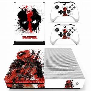Decal Skin Sticker For Xbox One S Slim Deadpool Skins