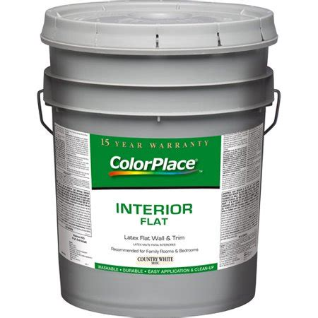 colorplace interior flat country white paint 5 gal