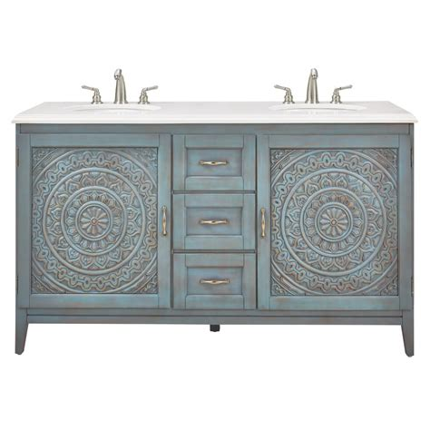 blue vanity top home decorators collection chennai 61 in w engineered