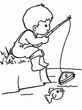 Fishing Coloring Rod Pole Pages Printable Getcolorings Colorin sketch template