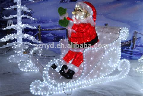 2015 outdoor christmas decorations of sleigh and santa