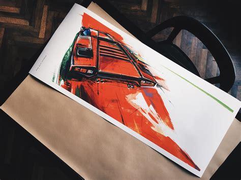 lamborghini countach poster art print simply petrol