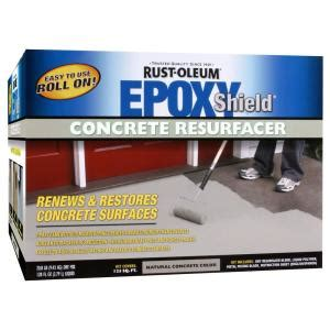 rust oleum epoxyshield  gal concrete resurfacer kit