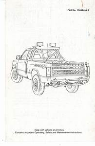 U00bb 1989 Owners Manual Supplement Cover Page 2