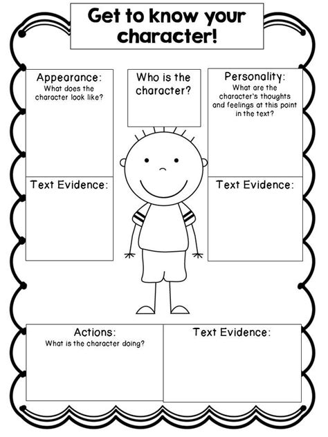 character chart template editable character study graphic organizers cc aligned school language arts and literacy
