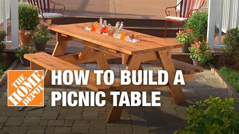 How To Build A Picnic Table With Builtin Cooler The