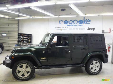 dark green jeep 2010 natural green pearl jeep wrangler unlimited sahara