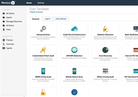 Nessus Web by Nessus Professional Vulnerability Scanner