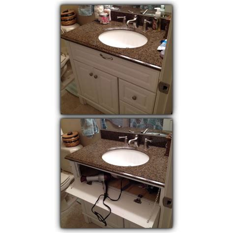 install electrical outlet under sink hair dryer storage and outlet under bathroom sink thanks